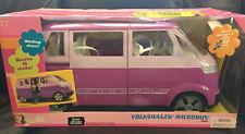 Barbie Volkswagen Microbus Vehicle Van (Purple) Working Horn & Sliding Door Fs