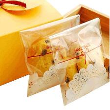 100Pcs Clear Cute Cake Gift OPP Plastic Self Adhesive Seal Package Bag