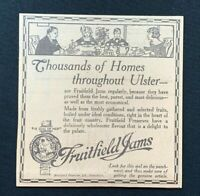 1926 Newspaper Clipping FRUITFIELD JAMS, PORTADOWN, ULSTER JAM PRESERVES