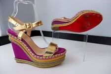 christian louboutin Shoes Sandals Size 38 Uk 5 Immaculate Wedge Heels Worn Once