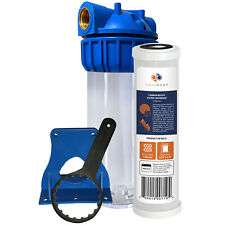 "Aquaboon 10"" Water Filtration System, Includes  Coconut Shell Carbon Filter"