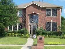 50' MEGA Web Rope Spider Web Giant Halloween House Yard Prop Decoration