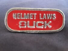 Motorcycle Biker Helmet Tie Tac Pin - Red / Silver - Jewelry - Laws NEW