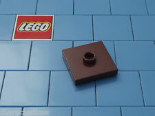 Lego 87580 2x2 Reddish Brown Tile, Modified With Groove And 1 Stud Center X 4