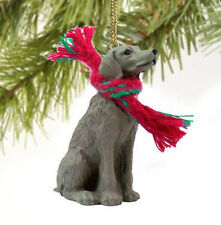 Weimaraner Dog Christmas Ornament Holiday Xmas Figurine Scarf