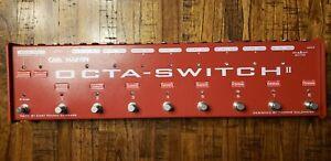 Carl Martin Octa-Switch II True-Bypass Pedal Switcher. Octa-Switch MKII
