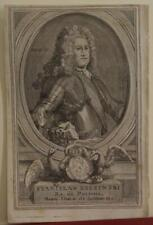 STANISLAW I LESZCZYNSKI POLAND 1740  SALMON ANTIQUE COPPER ENGRAVED PORTRAIT