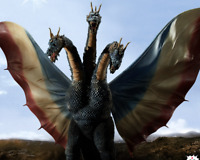 Toho Large Monsters King Ghidorah 1964 Limited Edition NG color figure JAPAN