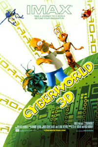 CyberWorld 3D (2000) original movie poster - double-sided - rolled