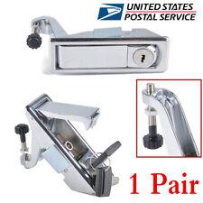 2 Pcs Chrome Zinc Alloy Compression Door Lock Toolbox Cabinet Latch Lock Kit