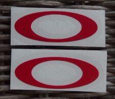 Helmet visor decal - sticker OAKLEY RED for helmet visor - TRIBU' DEI CHIHUAHUA