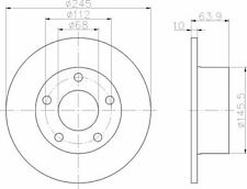 92057503 Textar Auto Bremsscheiben Hinten