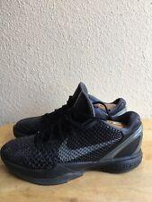 Nike Zoom 2016 Men's Kobe 6  Blackout Mamba Black/Grey Basketball Shoes SZ 8.5
