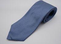 Brooks Brothers Stain Resistant SILK Light Blue Geometric Foulard Woven Tie EUC