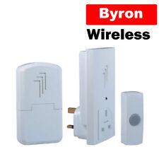 Byron Battery / Plug In Wireless Remote Double Doorbell Door Bell DB313