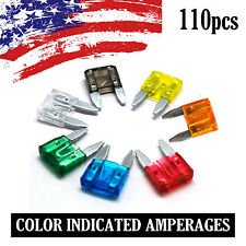 110 Pack Mini Blade Fuse Set 2A 3A 4A 5A 7.5A 10A 15A 20A 25A 30A 35A APM ATM