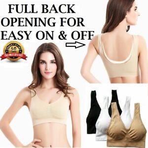Woman Seamless SPORTS STYLE BRA Crop Top Vest Comfort Stretch Bras Shape Wear UK