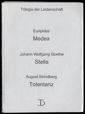 Theaterprogramm, Deutsches Theater Berlin, August Strindberg, Totentanz, 1987