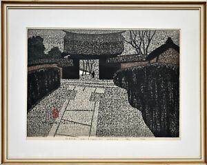 Saito Kiyoshi: Gate Daitoku-ji Kyoto. (1964). Sign. O.-Farbholzshnitt. Gerahmt.