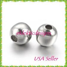 3mm 50pcs Stainless Steel Metal Round Spacer Beads Earrings Jewelry Findings