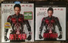 Ant-Man (Blu-ray + 3D + Digital Copy, 2015, 2-Disc Set w Black Case & Slipcover)