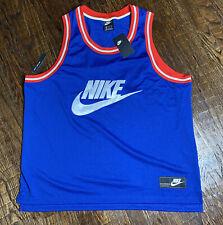 Nike Sportswear Statement Mesh Jersey Tank [Ar9892-438] Blue White Mens Xxl 2Xl