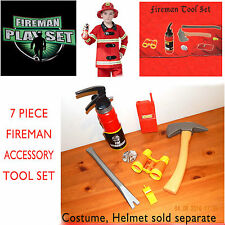 Fireman Tool Playset 7 pc boys toys Fire Station Rescue Fire Fighting Equipment