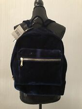 AIMEE KESTENBERG TAMITHA VELVET BLUE & LEATHER  BACKPACK .