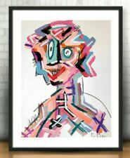 CORBELLIC ART Acrylic PAINTING IMPRESSIONISM MODERN JAPANESE HAIR SALON MUSEUM