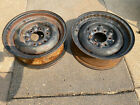 2-55-59 60 Chevy Gmc Truck 15x5.5 6 Lug Steel Wheels With Clips