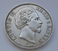 5 Mark König Ludwig II. von Bayern Kaiserreich 1876 D Silber J. 42