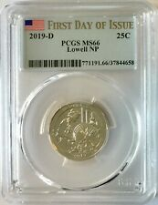 PCGS MS66 2019 D Lowell Massachusetts National Park Quarter ~ FIRST DAY OF ISSUE