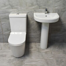 Contemporary Modern Toilet Wc and Basin Set 10yr Gaurantee Smooth lines