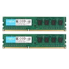 Crucial 2x 4GB PC3-8500U DDR3 1066MHz RAM DIMM Desktop Arbeitsspeicher Intel @MT
