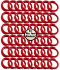 """48 RED #8 LEG BANDS 1/2"""" CHICKEN POULTRY CHICK QUAIL PIGEON DOVE DUCK GOOSE BIRD"""