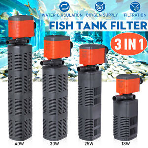3 in1 Aquarium Water Pump 800-2500LPH Submersible Fish Tank Pond Filter
