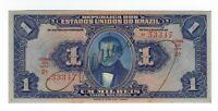 1 Um Mil Reis Brasilien 1919 R077 / P.6 - Brazil UNC Banknote
