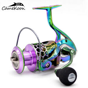 CAMEKOON Spinning Reel with Aluminum Frame 39LB Drag for Saltwater or Freshwater
