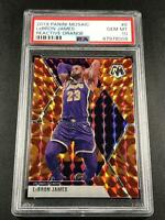 LEBRON JAMES 2019 PANINI MOSAIC #8 REACTIVE ORANGE REFRACTOR PSA 10 LAKERS