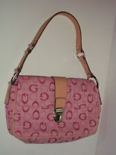 GUESS Pink Signature G Twill Shoulder Bag Purse Silver Hardware