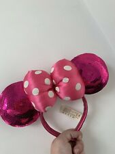 Disney Parks Store Pink Sequin Minnie Mouse Ears