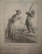 CHAR 085 CARICATURE 1863 INSURECTION POLOGNE PROPOSITION D'AMNISTIE