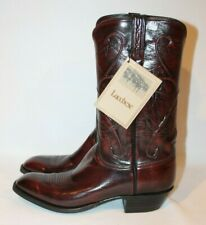 NWT MEN'S LUCCHESE GOAT LEATHER COWBOY BOOTS SIZE 10 D