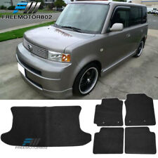 For 04-07 Scion xB 4Dr Black Nylon Floor Mats Carpets for All Weather 5PC