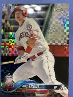 2018 Topps Chrome Mike Trout X-Fractor Insert Card #100 Los Angeles Angels