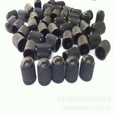 100pcs Car Bike Van Black Plastic Valve Dust Caps Valves Cap Tyre Tubes Set