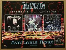 Glenn DANZIG Rare1999 PROMO POSTER for Reissue CD NEVER DISPLAYED 24x18 MISFITS