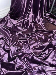 "3 mtr purple silky shiny velvet fabric.58"" wide (147cm)"