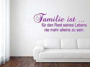 Wandtattoo Aufkleber Spruch Zitat Familie ist... 4 Gr. inkl.Rakel Wand Tür W249