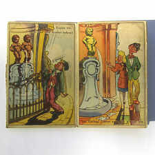 Vintage Postcards MANNEKIN PIS Cartoon Fold Out Of 10 English Captions Belgium